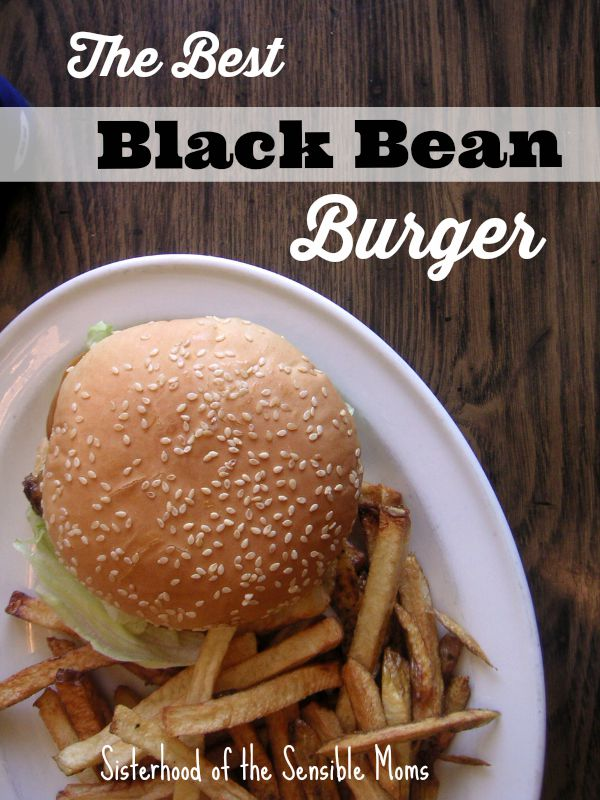 The Best Black Bean Burgers! Try this recipe tonight for dinner because you don't have to be a vegetarian to crave them. Everyone loves them because they are bursting with flavor! Yummy and healthy! | Sisterhood of the Sensible Moms