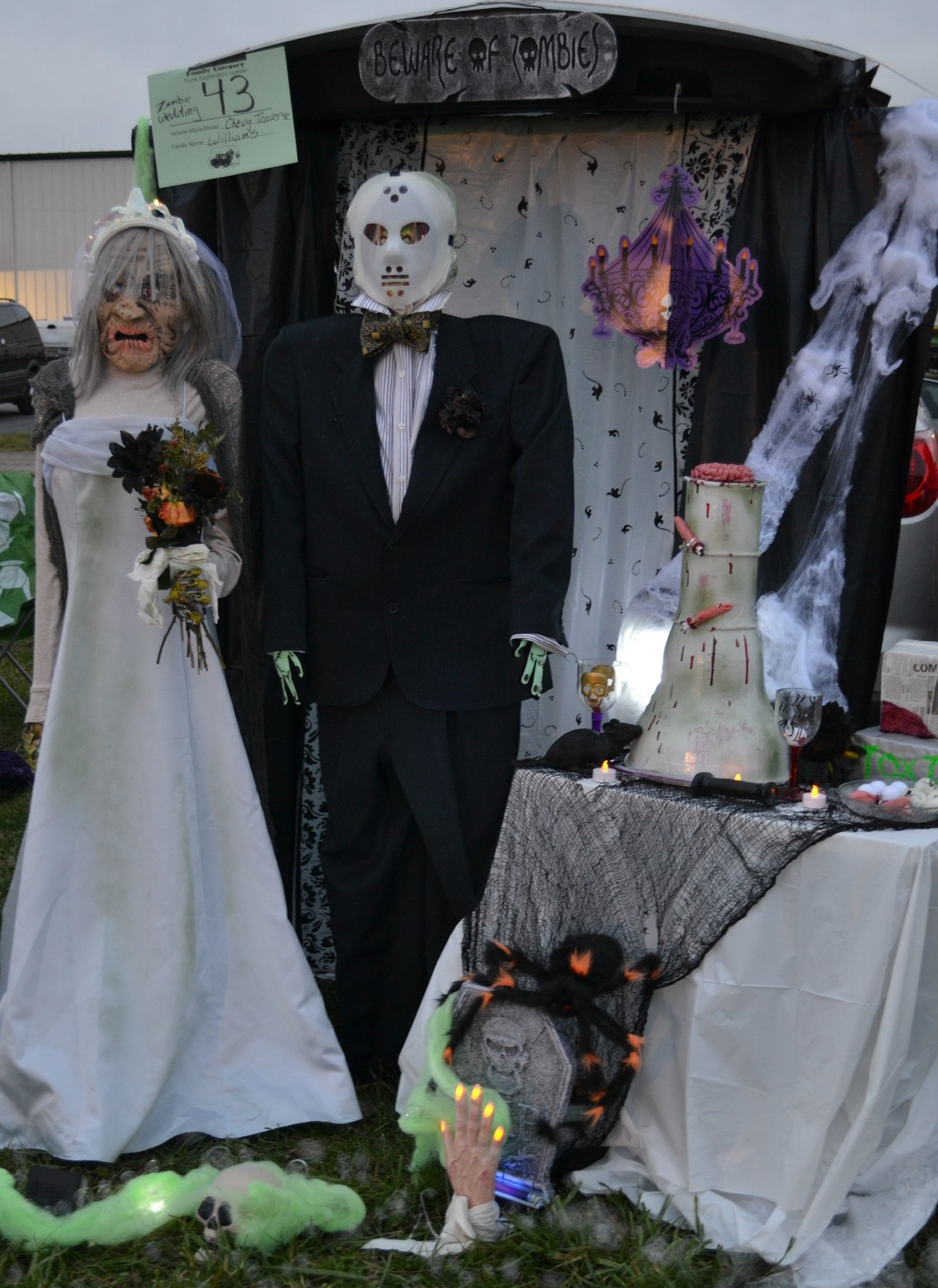 It's a nice day for a zombie wedding. Trunk or Treat Ideas. | Halloween costumes  | Sisterhood of the Sensible Moms