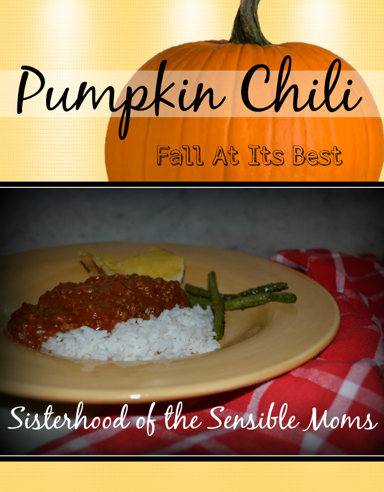 This chili IS fall. Flavorful and yummy, yet not spicy, this recipe will please the WHOLE family. Sisterhood of the Sensible Moms
