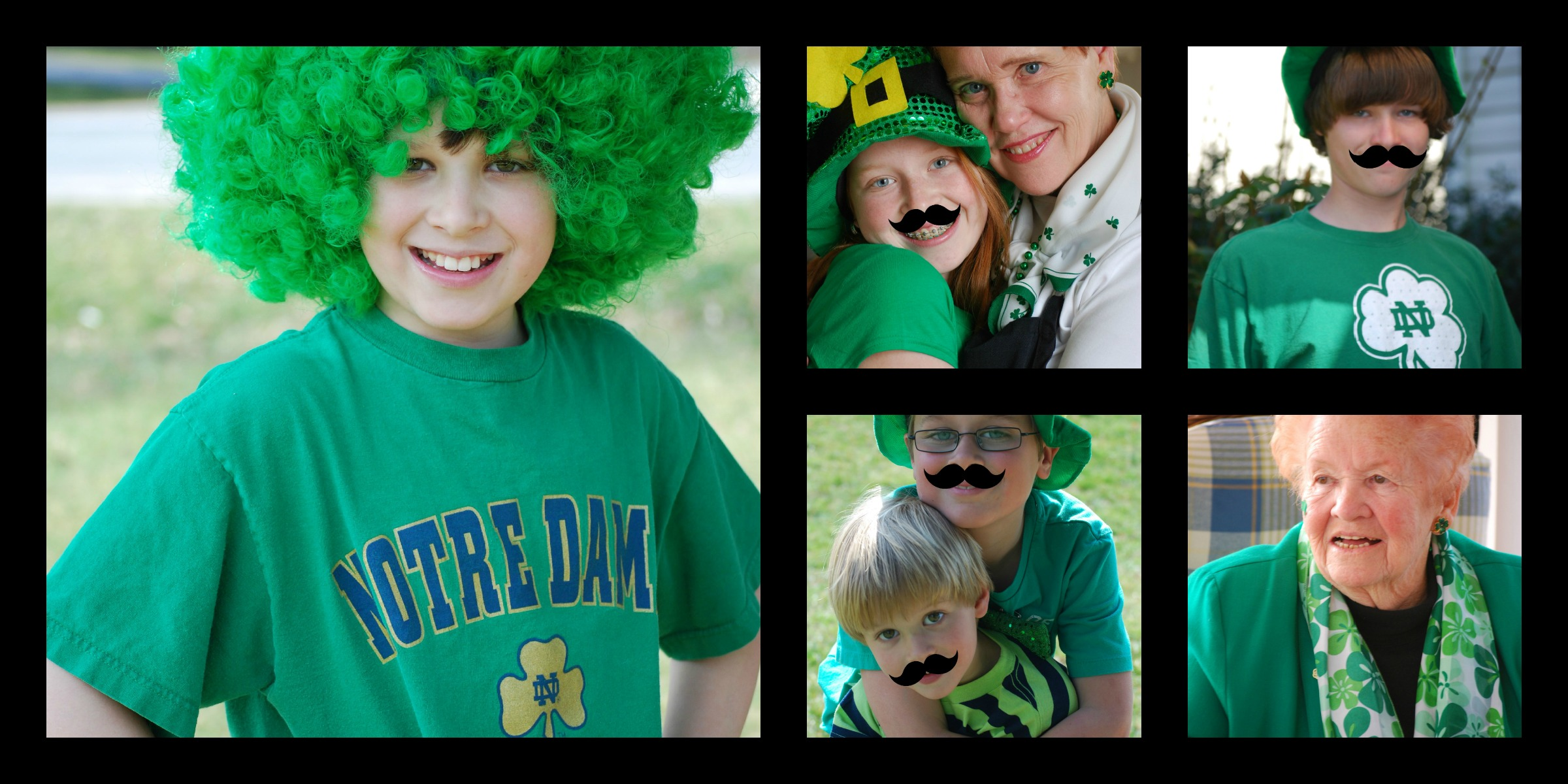 st.patrick's day collage