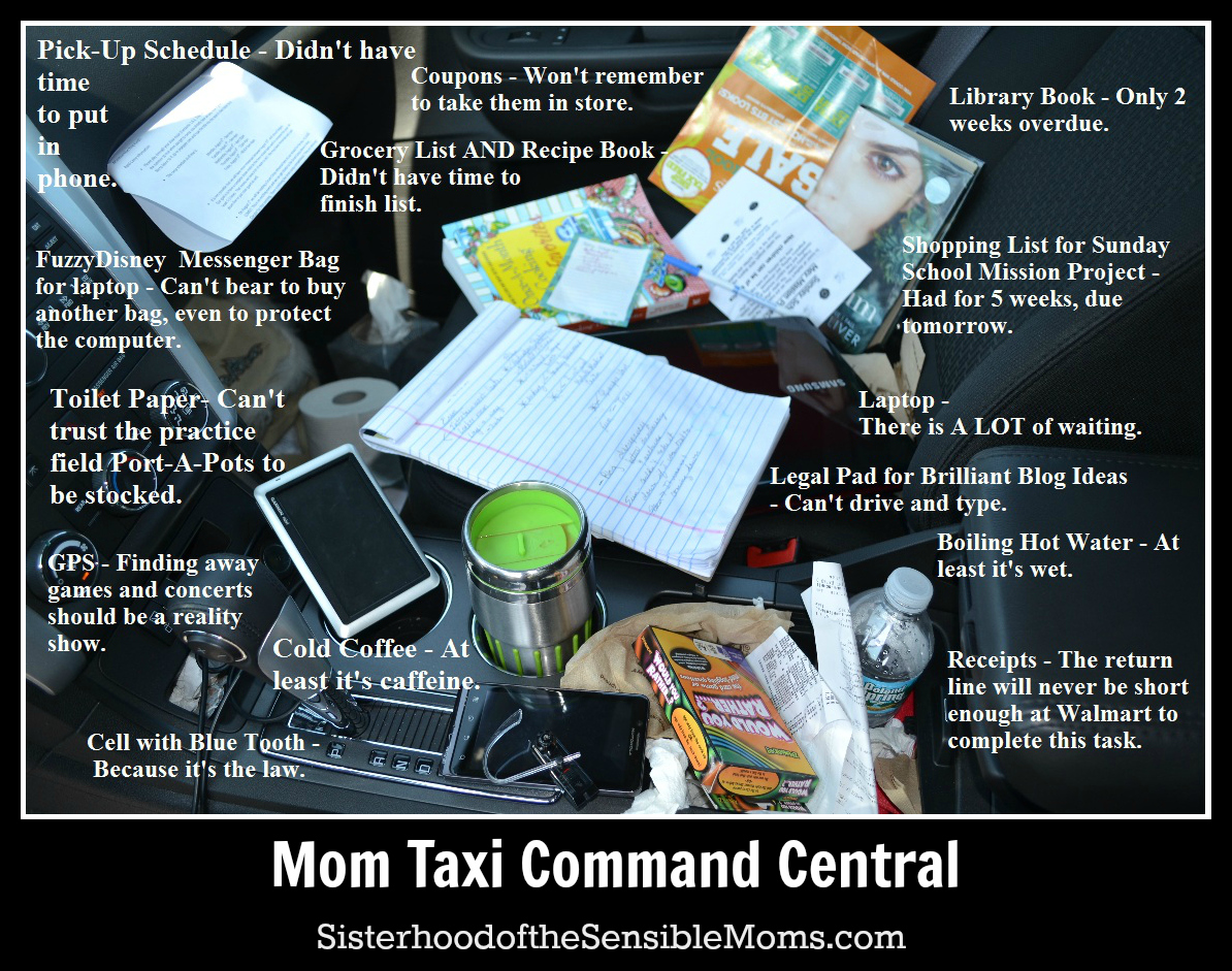 Life Hacks for Managing Your Busy Family: Mom Taxi Command Central. | Parenting Humor | Sisterhood of the Sensible Moms