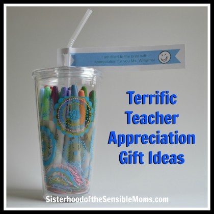Get your DIY on! Teacher appreciation gift ideas that are rich in gratitude, but easy on the wallet: some are class projects and some are individual endeavors. - Sisterhood of the Sensible Moms