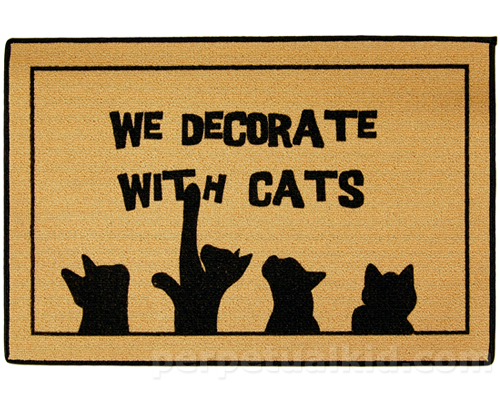 we decorate with cats