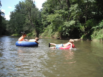 Tubing On The River