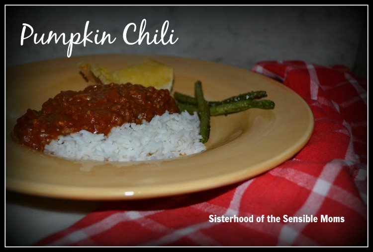 Mild, but yummy! Pumpkin Chili - Sisterhood of the Sensible Moms