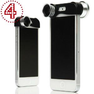 JKase® 3-in-1 Camera Lens Kit Wide Angle Lens + Macro Lens + 180° Fish Eye Lens for iPhone 5