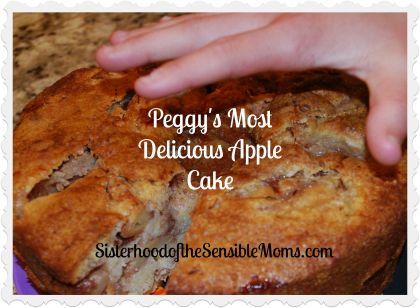 Peggy's Most Delicious Apple Cake - This recipe will become a family favorite! Sisterhood of the Sensible Moms