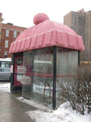 Yarn Bombing: Making Vandalism Cozy and Adorable.