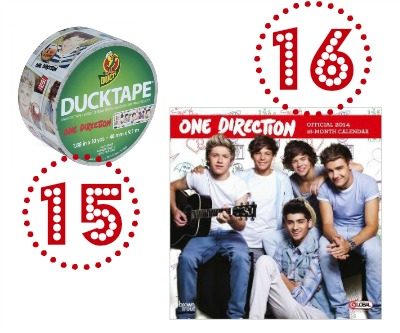 One Direction Duct Tape and Calendar