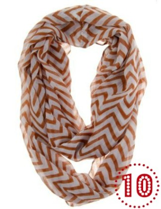 Soft Chevron Sheer Infinity Scarf