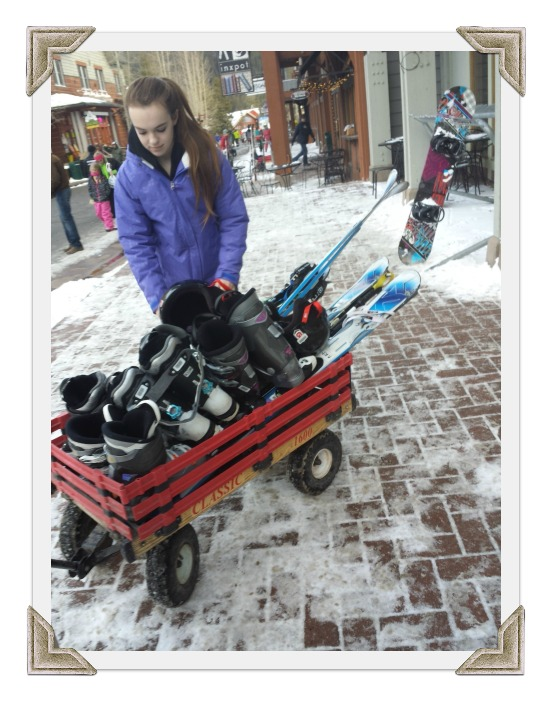 Wagon in the Ski Village, Keystone