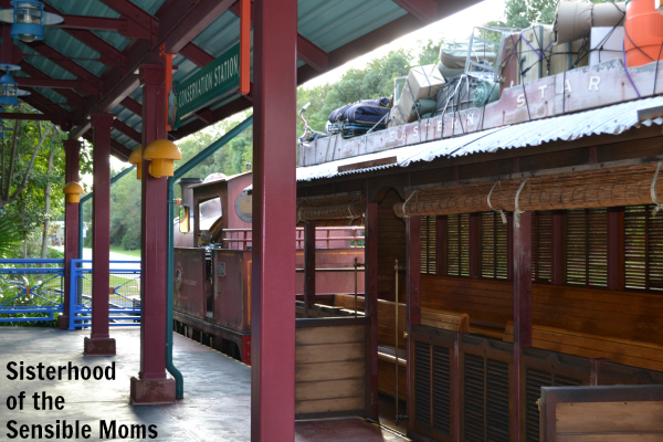 Of course the station and train are cool. It's Disney World.