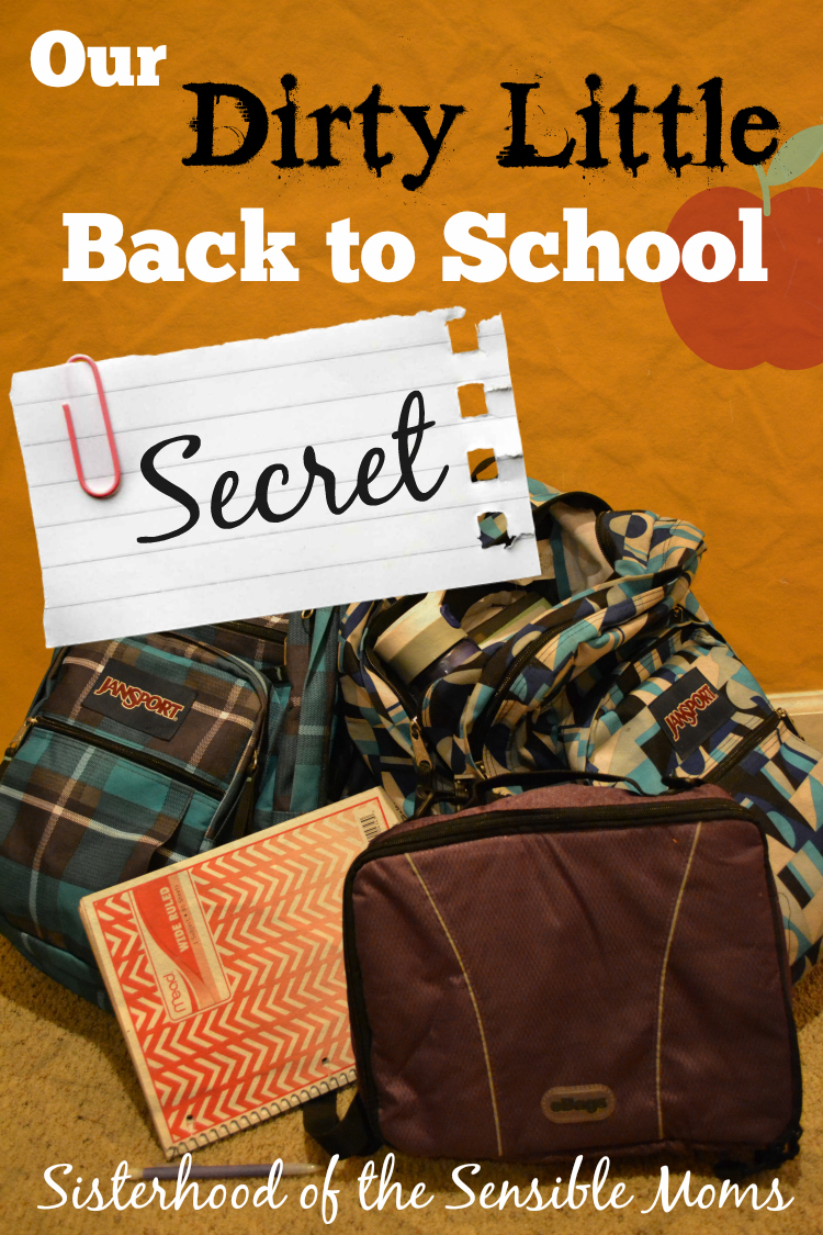"Are you jumping for joy for Back to School? Find out ""Our Dirty Little Back To School Secret"" - Sisterhood of the Sensible Moms"