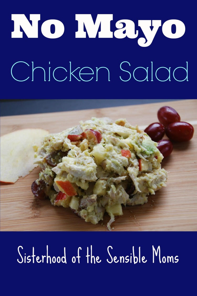 No Mayo Chicken Salad--- A yummy paleo, picnic, and tailgating winner of a recipe!---Sisterhood of the Sensible Moms