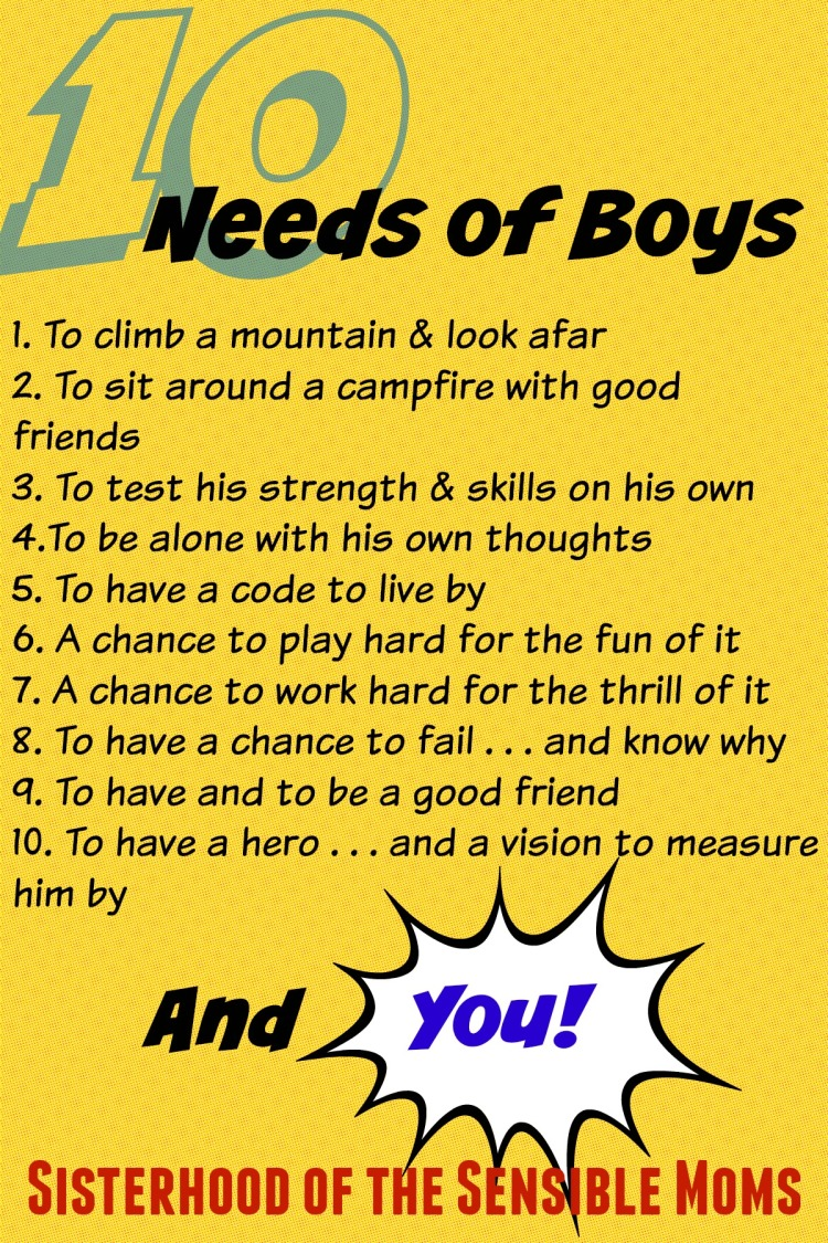 10 Needs of Boys