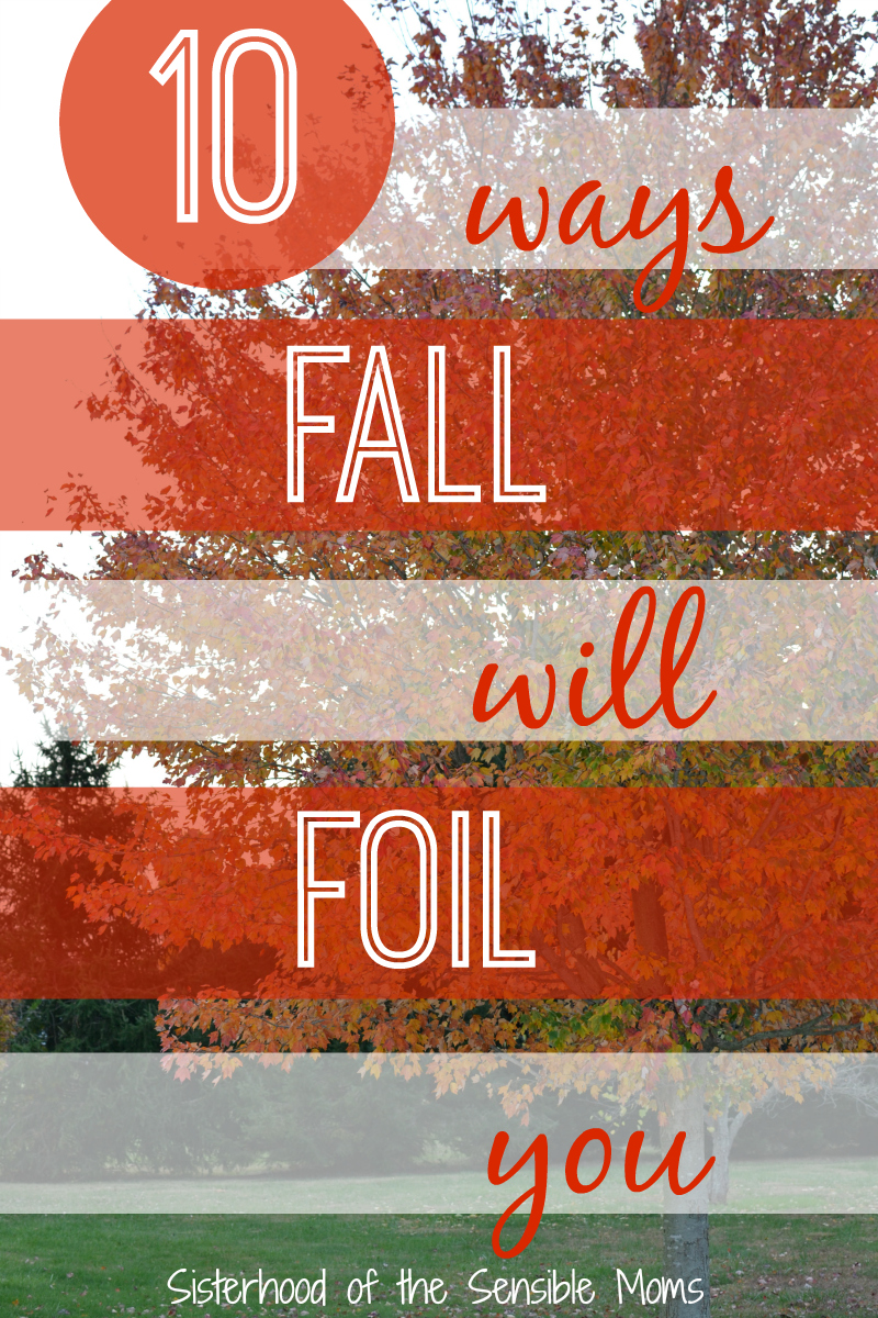"Yeah, we have some gripes with autumn being the ""perfect"" season. #humor --10 Ways Fall Will Foil You -- Sisterhood of the Sensible Moms"