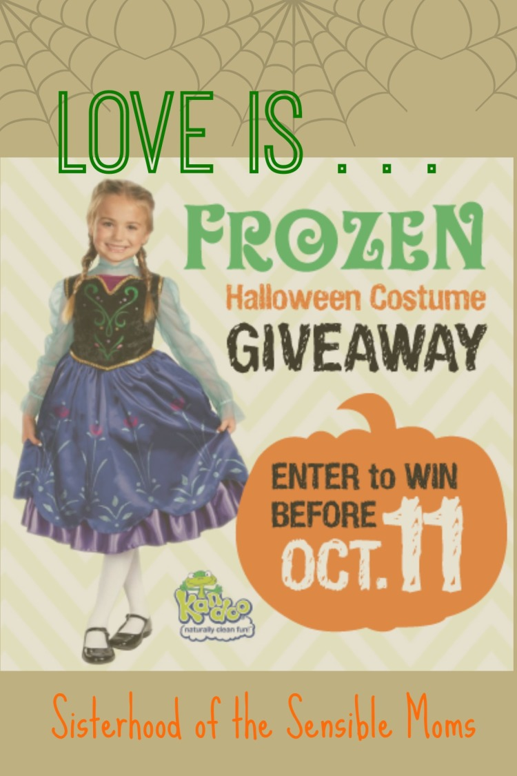 Frozen Halloween costume giveaway--Sisterhood of the Sensible Moms