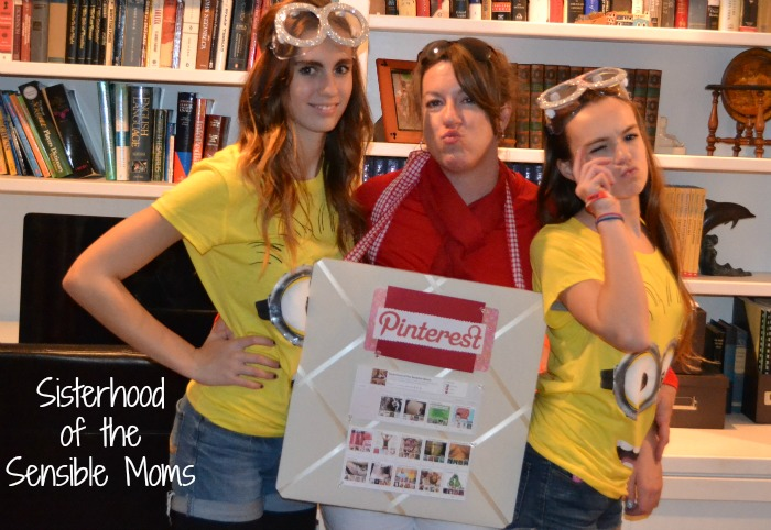 DIY Halloween Costumes - Minions and Pinterest Board - Sisterhood of the Sensible Moms
