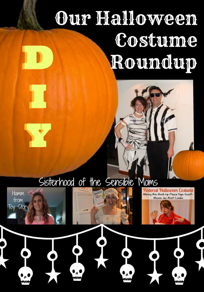 Our DIY Halloween Costumes: Pig, Blind Referee, Pinterest Board, and MORE! Recipes and party ideas, too.  | Sisterhood of the Sensible Moms