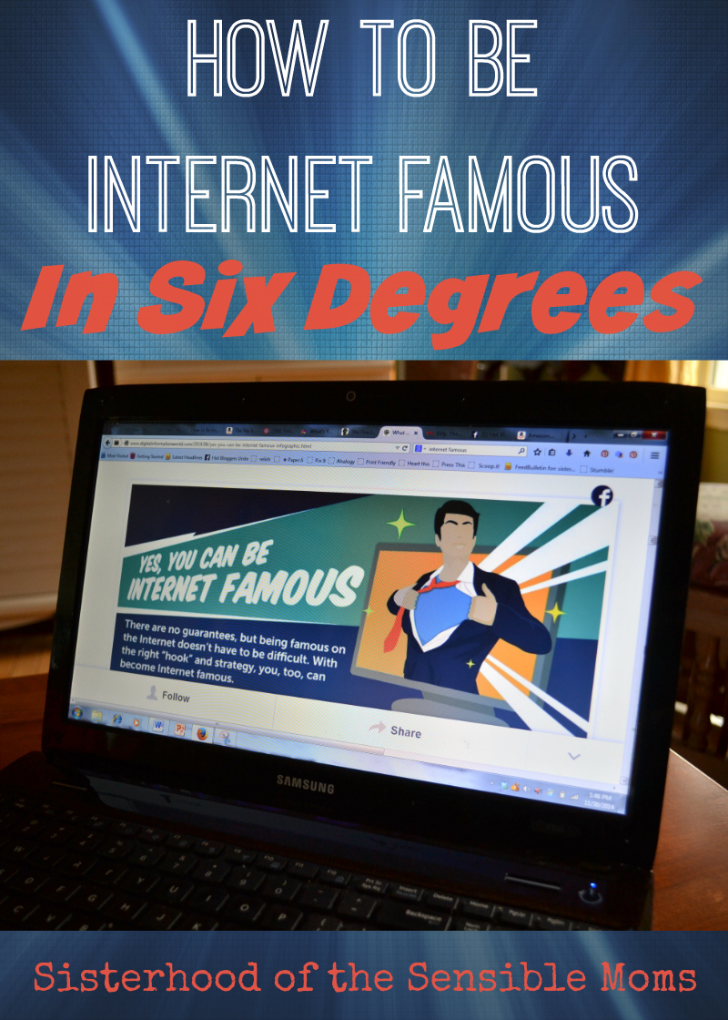 How to Be Internet Famous in Six Degrees - Kevin Bacon and P!nk are the Best (and other truths about Twitter)! |Parenting Humor | Sisterhood of the Sensible Moms