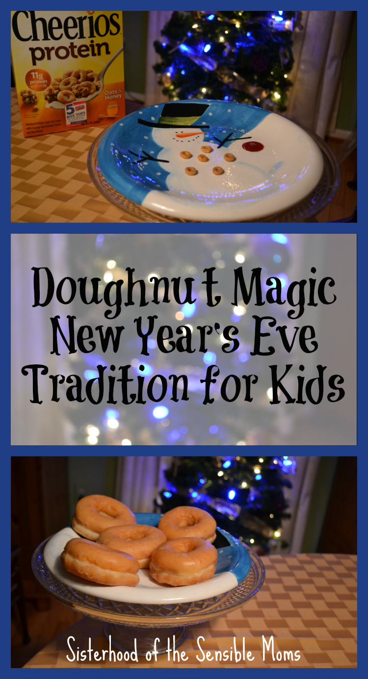 Doughnut Magic New Year's Eve Tradition for Kids - Make special memories and convince them that being in bed before midnight is cool! | Parenting |Hoilday Traditions | DIY | Sisterhood of the Sensible Moms