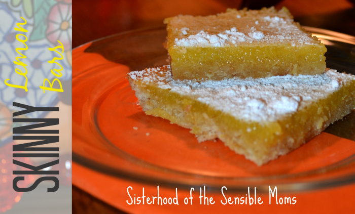 Skinny Lemon Bars - Sisterhood of the Sensible Moms