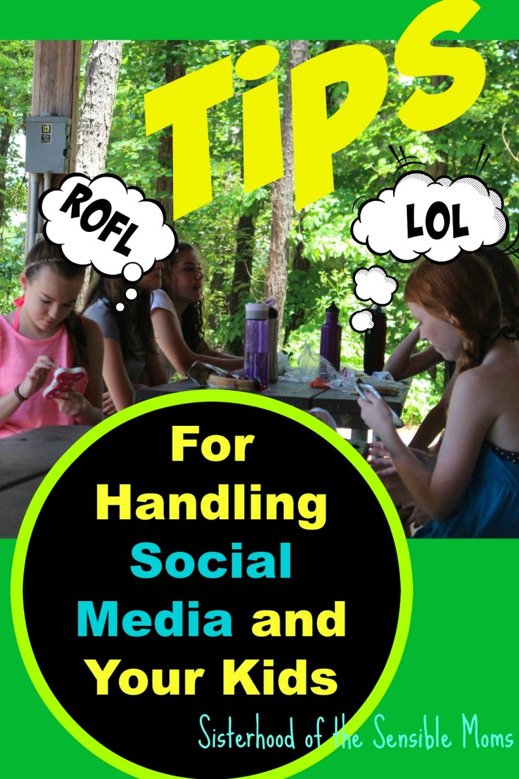 Social media woes? Check out these great tips for handling social media and your kids---Sisterhood of the Sensible Moms