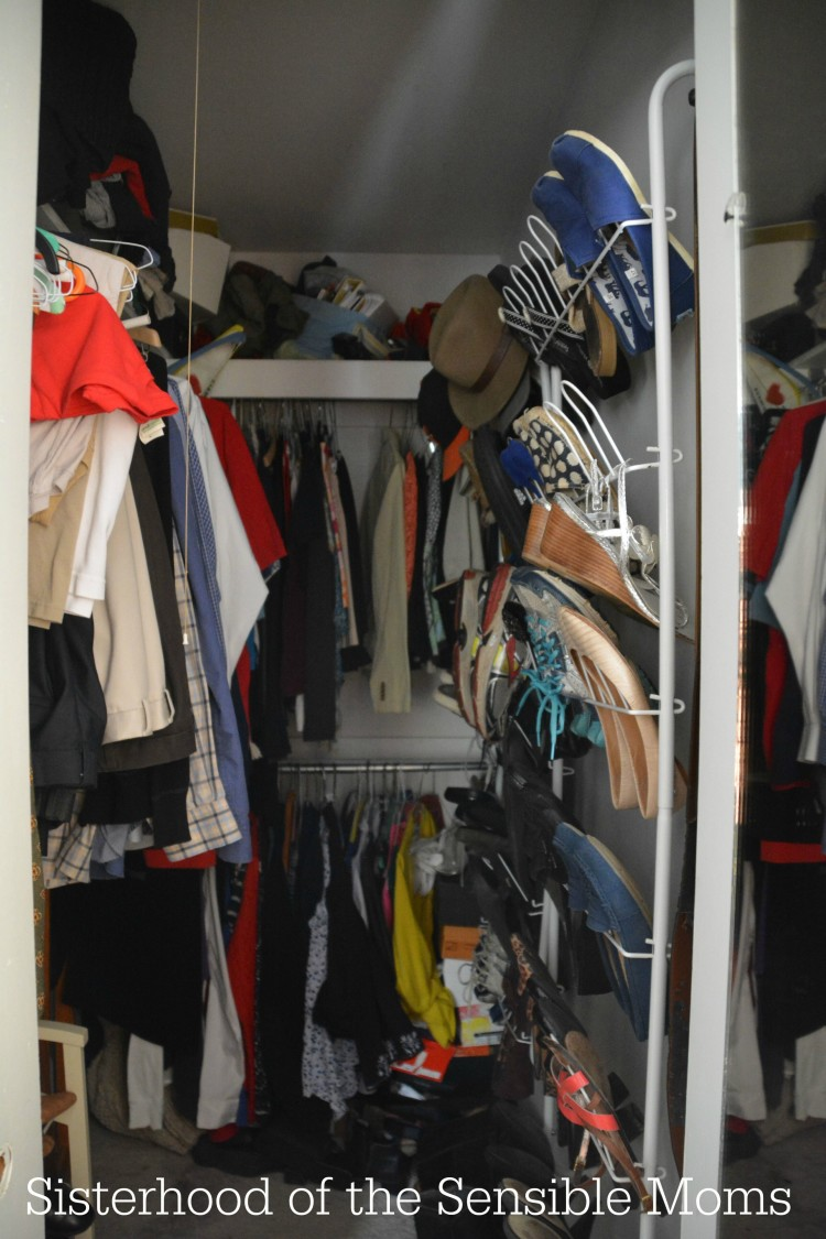 This closet isn't too small. It's just right for the closet capsule craze. Read (and hear more) from Sisterhood of the Sensible Moms