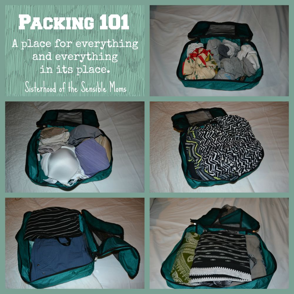 Packing 101: The Best Packing Tip You Never Knew You Needed! Organized travel can be yours with this simple trick. Sisterhood of the Sensible Moms