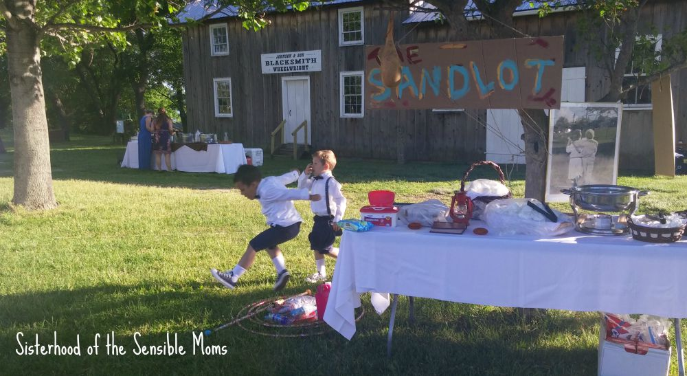 The Sandlot Inpired Kids' Table  Wedding Ideas | I Attended a Pinterest Wedding! They're real! | Look no further for wedding day inspiration! | Sisterhood of the Sensible Moms