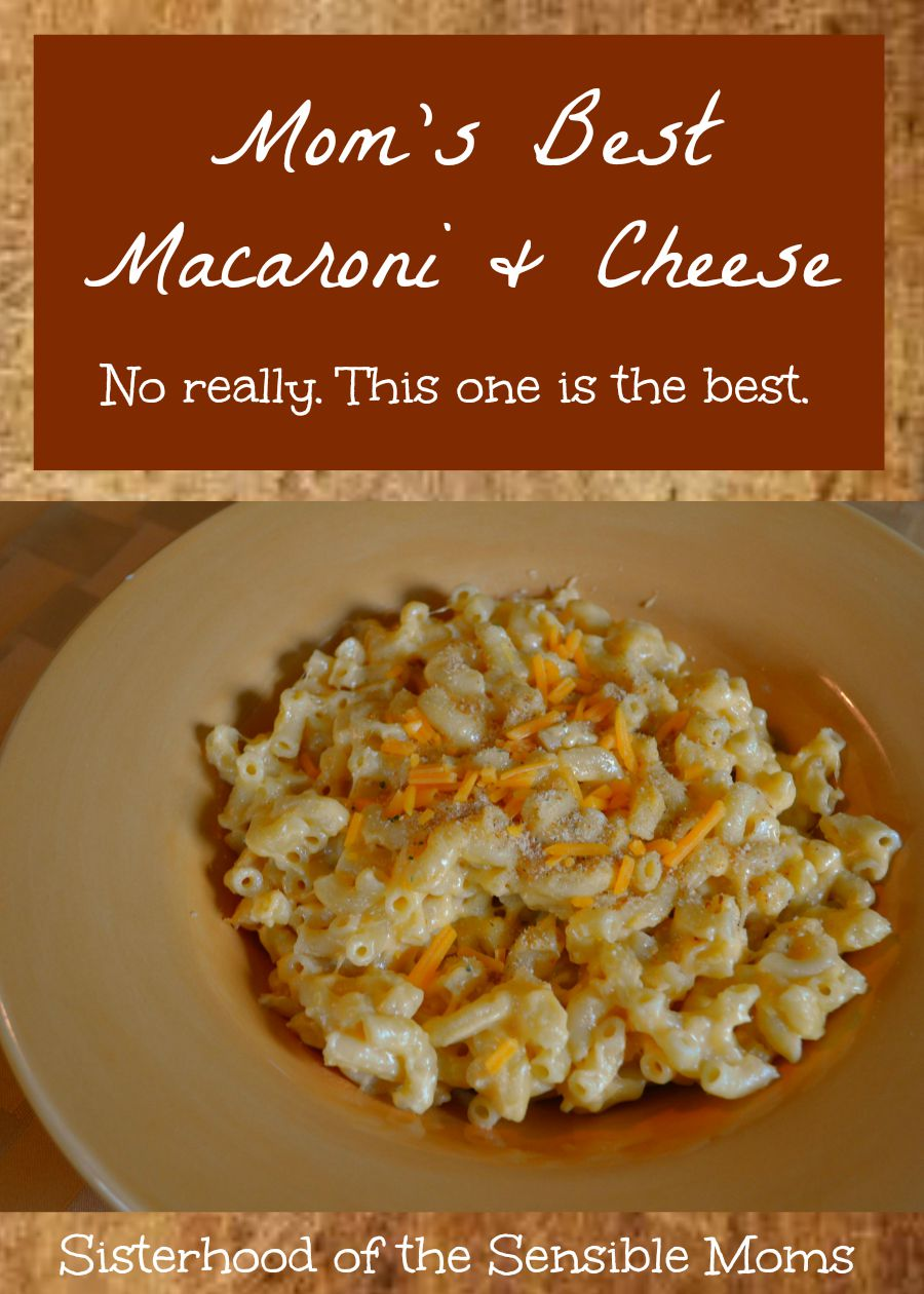 Mom's Best Macaroni and Cheese. So delicious and yummy. This recipe is comfort food defined and it's great because it keeps your oven free. This is a stove top recipe. | Sisterhood of the Sensible Moms
