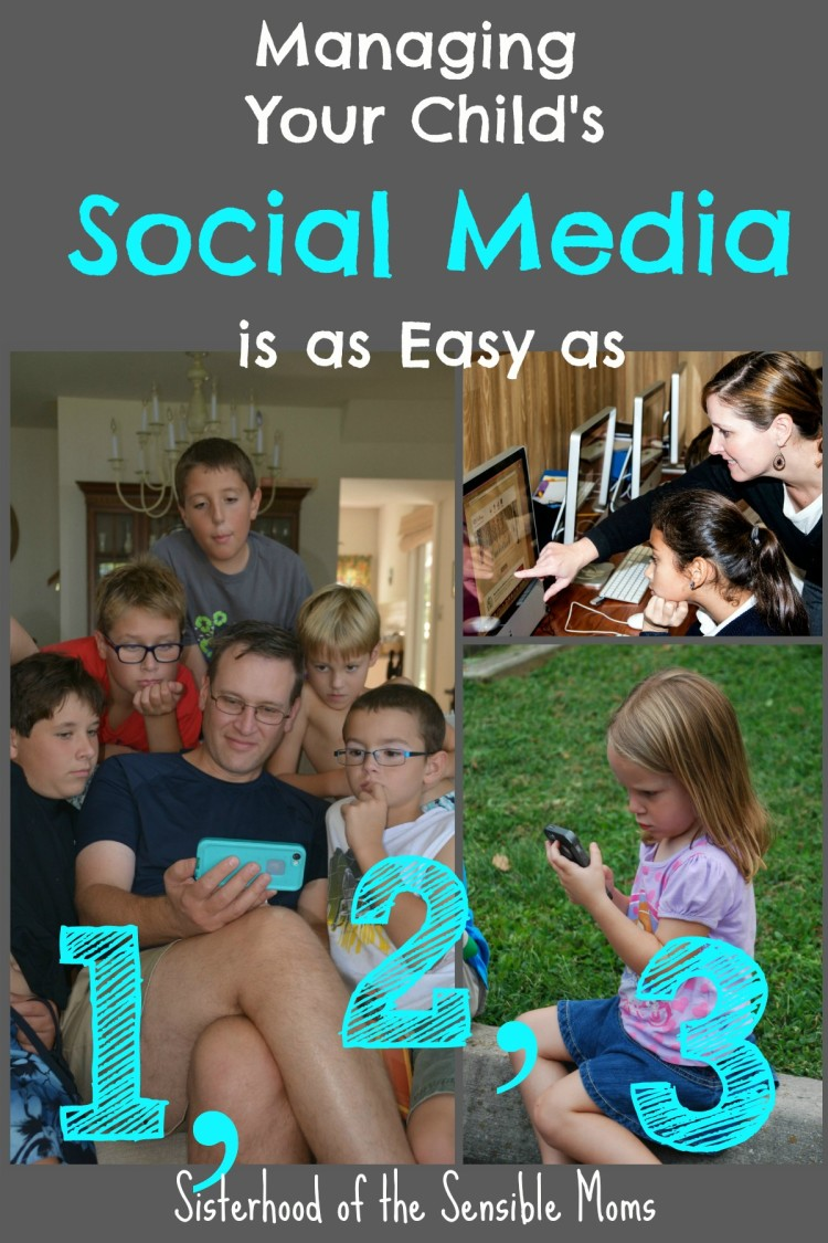 Parenting tips for managing your child's social media. | Parenting Advice | Family Social Media Guide | Sisterhood of the Sensible Moms Moms