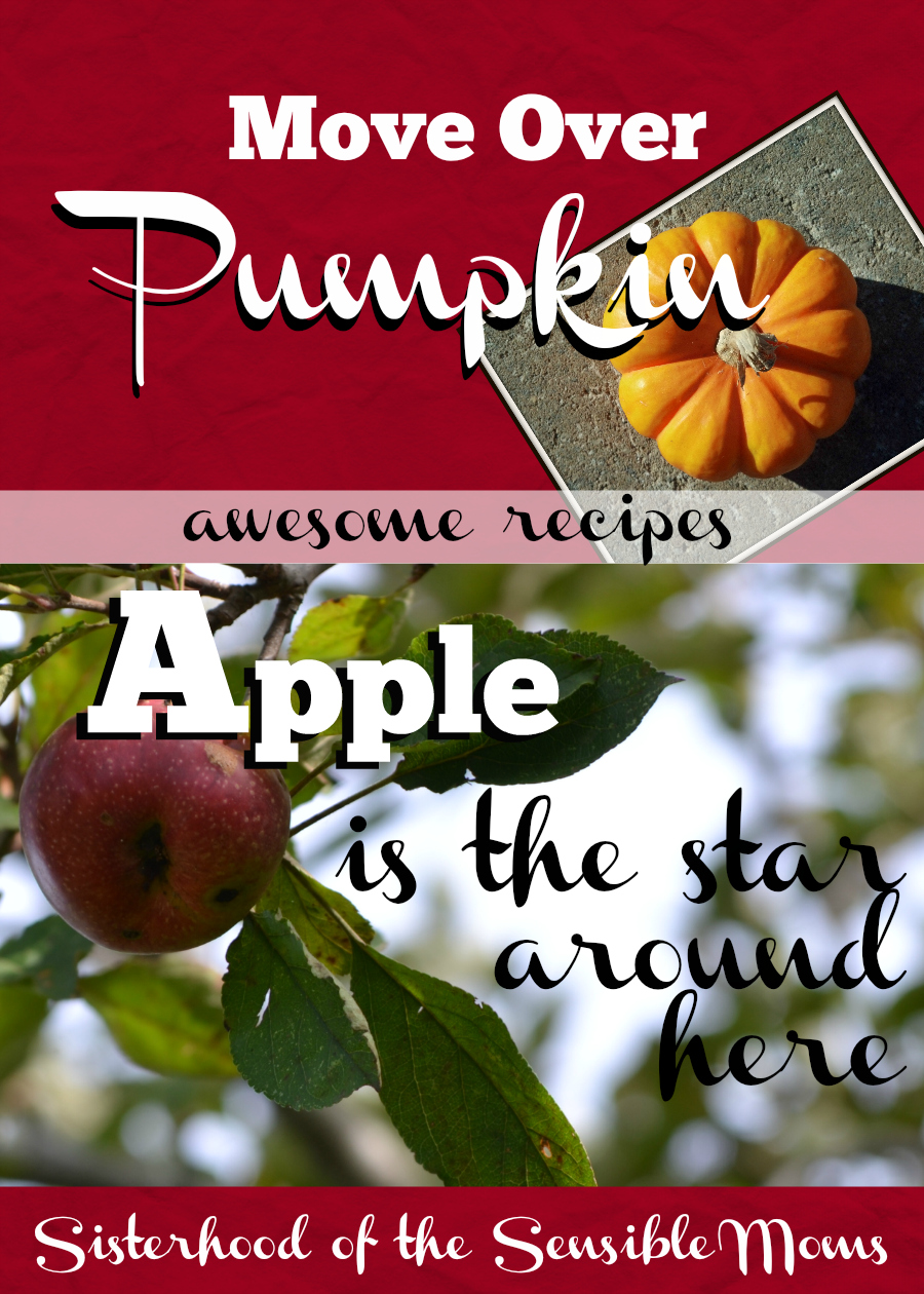 'Tis the season for apple and pumpkin and we have the best recipes for you including the most delicious apple cake you have ever tasted! Apple is the new star around here! Sisterhood of the Sensible Moms