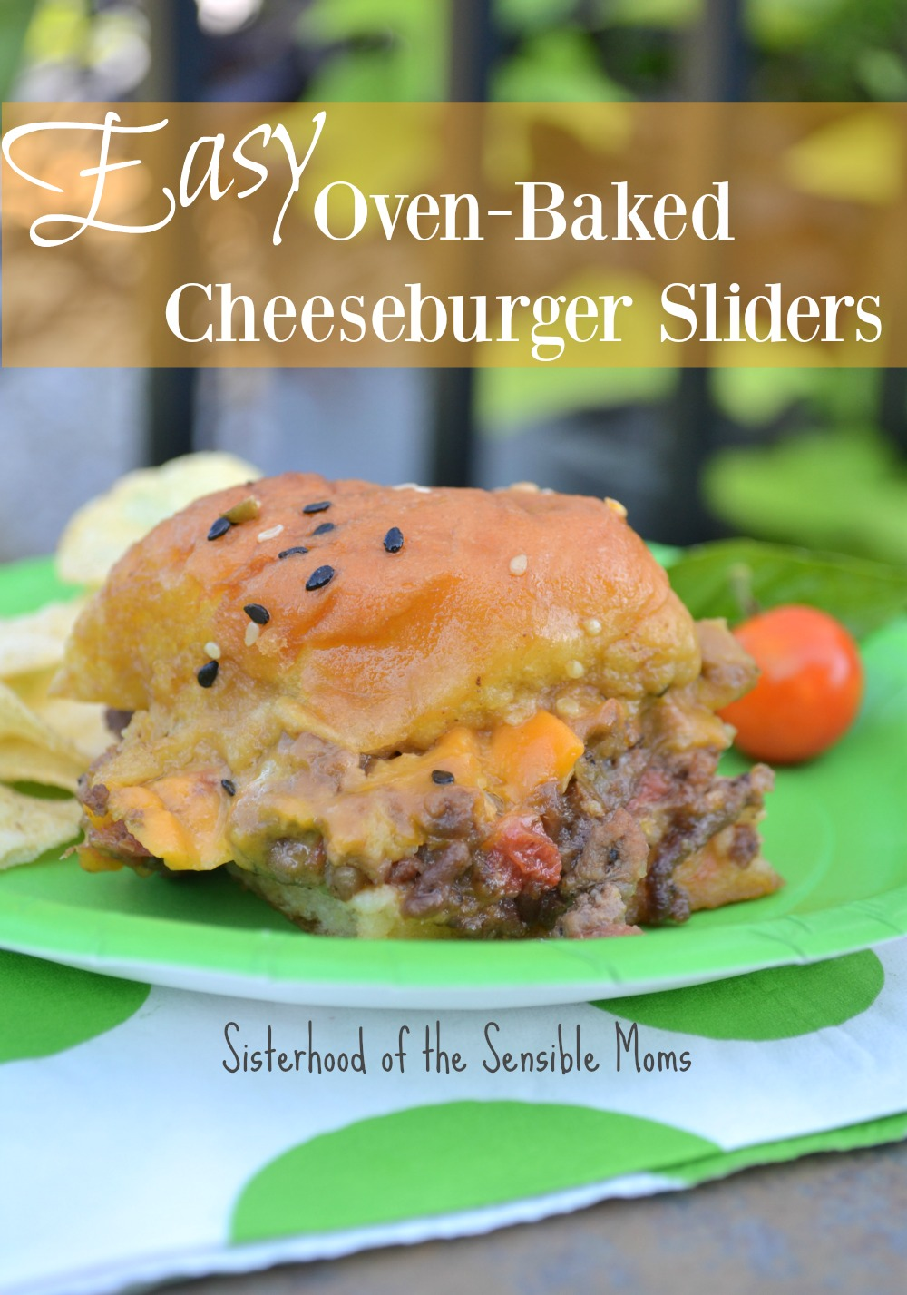 Crave some tavern goodness without the drive? Make Easy Oven-Baked Cheeseburger Sliders! Perfect for a party OR a busy weeknight! This recipe is the best. | Sisterhood of the Sensible Moms