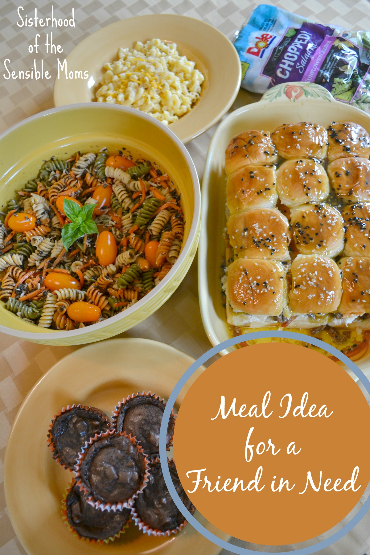 Meal Idea for a Friend in Need | Nothing says love like food, and in desperate times and overwhelmingly joyful times these easy and yummy recipes will be welcomed.| Meal Plan |  Sisterhood of the Sensible Moms