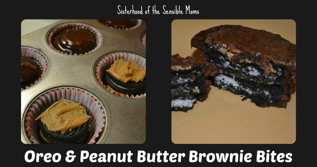 Yummy Oreo and Peanut Butter Brownie Bites