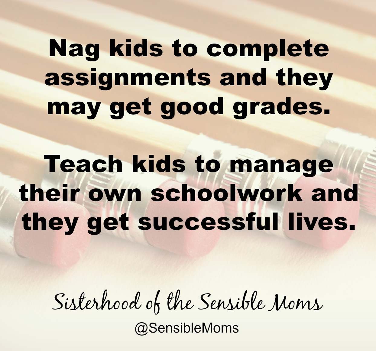 Practical tips for how to teach kids to take responsibility for their schoolwork. Before you stop hovering, you must teach them the skills to be self-sufficient. Think of it as giving them training wheels for responsibility. | Parenting | Sisterhood of the Sensible Moms