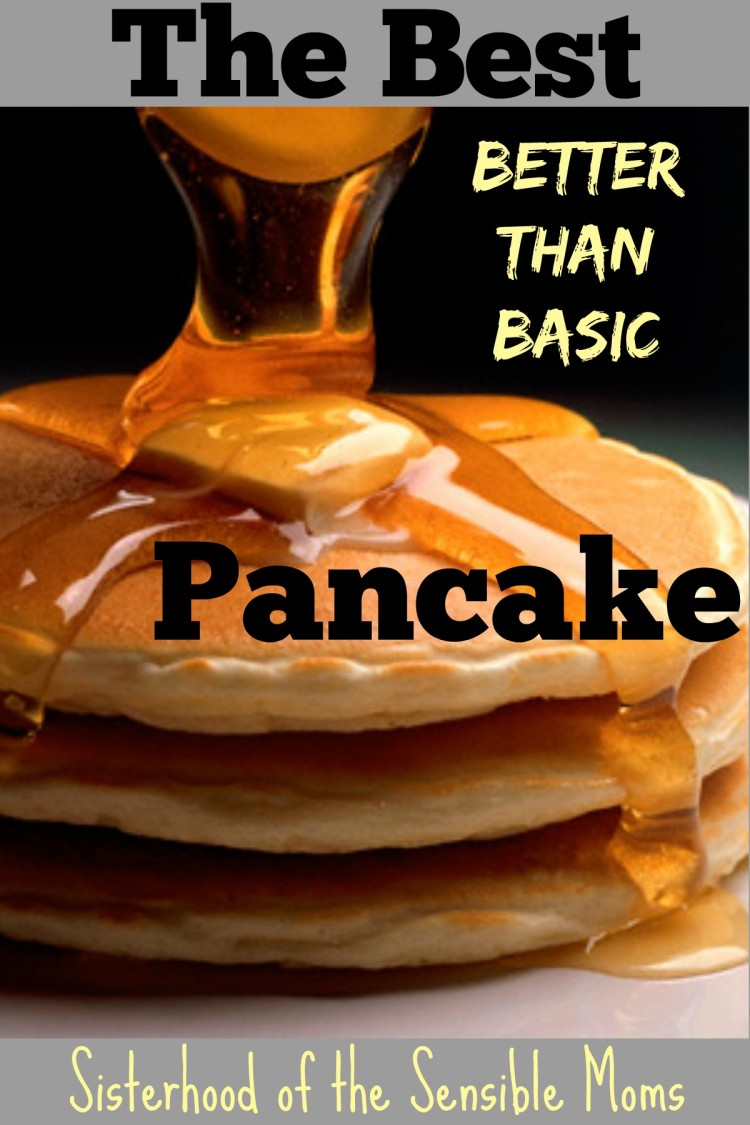 Looking for inexpensive, easy, but heartfelt Valentine's Day's ideas? This best better than basic pancake is perfect for breakfast in bed | Sisterhood of the Sensible Moms
