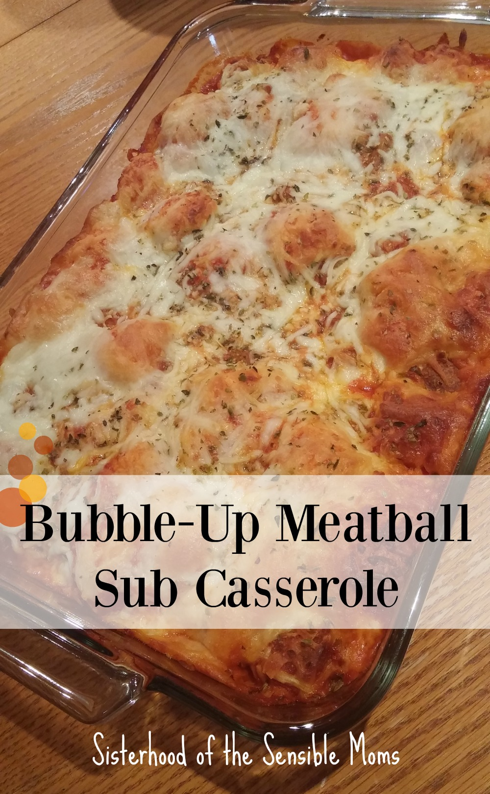 Delicious Bubble-Up Meatball Sub Casserole is low on effort, but big on satisfying taste. It's comfort food that's not too bad on the waistline. Such a yummy dinner recipe the whole family will love. | Sisterhood of the Sensible Moms