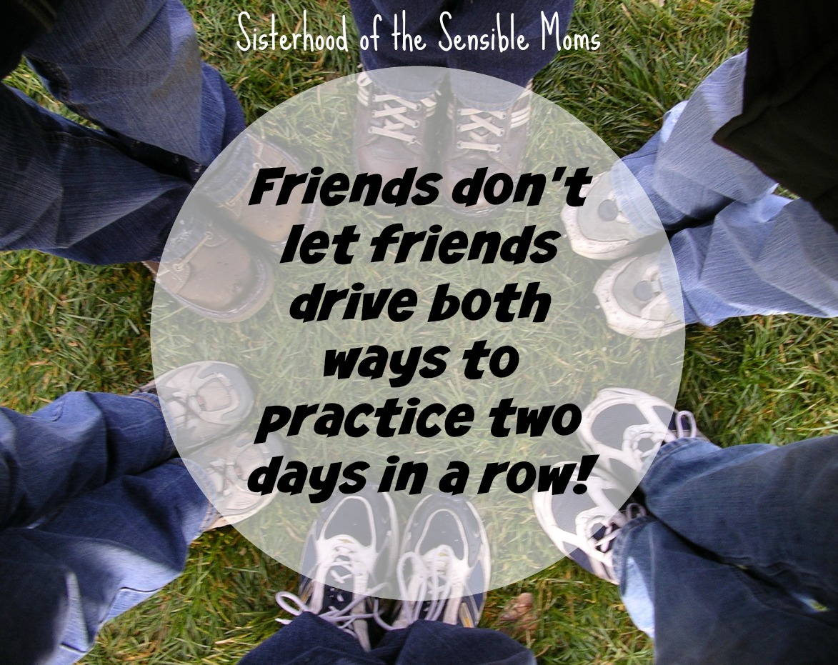 How to Create a Carpool | Got kids in sports? You need to create a carpool! Tips to put together your own sanity saver because friends don't let friends drive both ways to practice two days in a row! | Sisterhood of the Sensible Moms