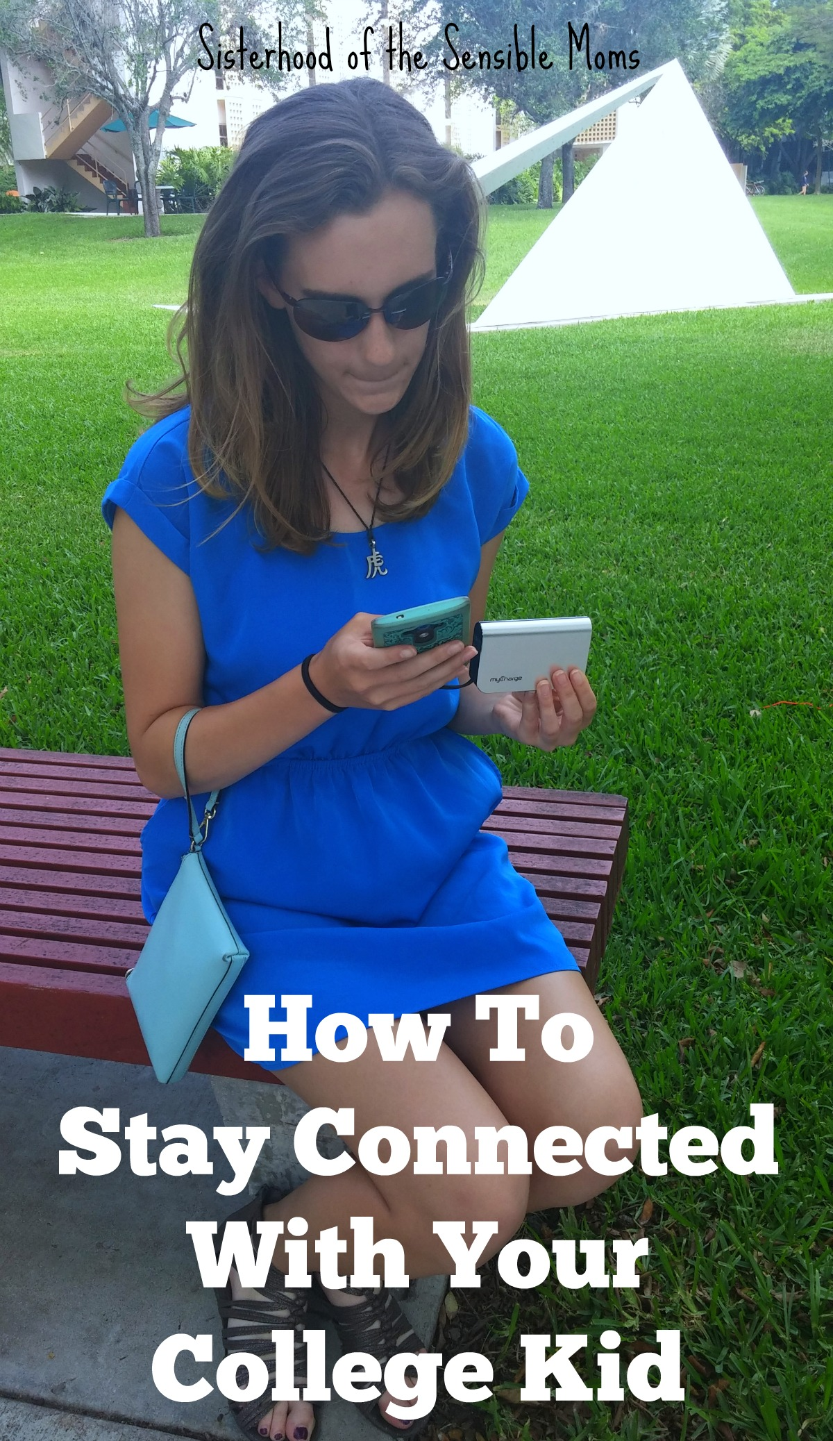 How to Stay Connected With Your College Kid | How do you stay connected with your child across the miles? Modeling good listening skills is a must, but it may be as easy as making sure their phone is always charged. | Sisterhood of the Sensible Moms