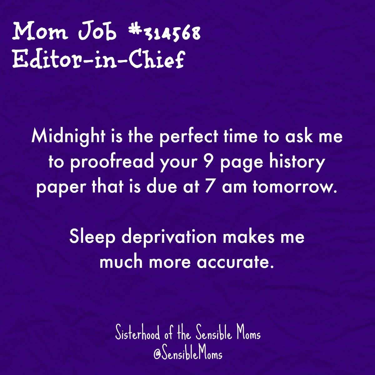 Being a mother means being a Jacqueline of All Trades . . . whether we want to be or not. But even if we can't get a little help, we can at least find the humor in these 13 Mom Jobs We All Can Relate To. | Sisterhood of the Sensible Moms