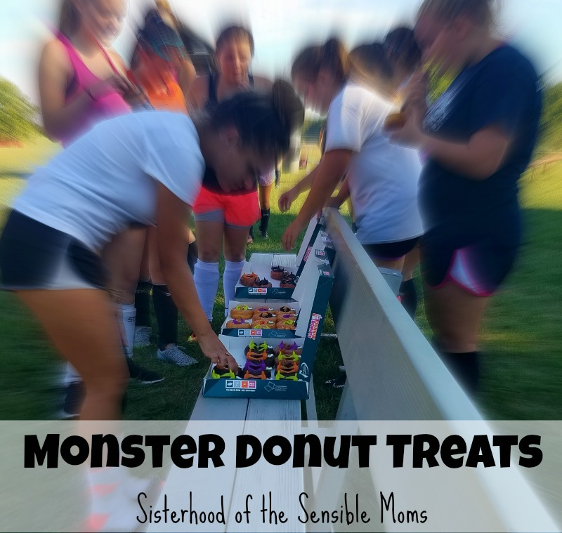 This amazingly adorable Halloween Monster Donuts DIY is incredibly easy, but it can trick you if you don't heed this one crucial key to success! | Sisterhood of the Sensible Moms
