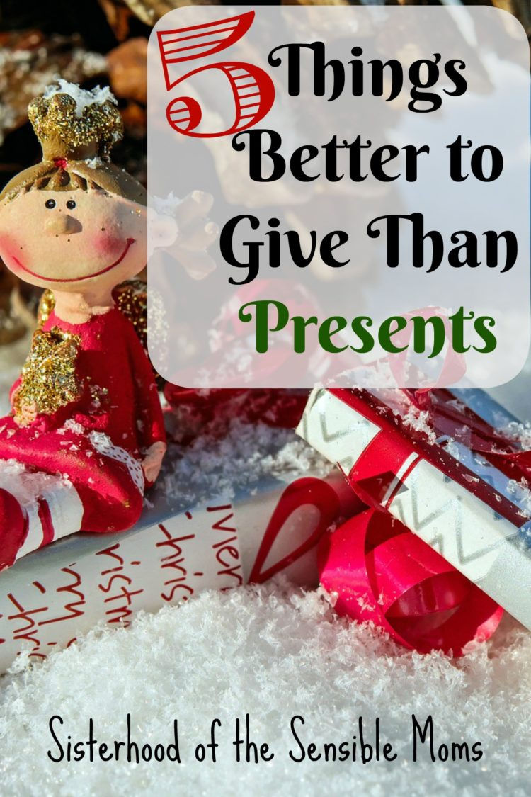 Holidays got you stressed and not your best? Here are five things better to give than presents. Parenting at Christmas made simple, easy, and full of the joy of the season. | Sisterhood of the Sensible Moms