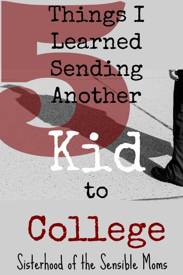 Sending another kid to college? Your first one? Erin shares parenting lessons she learned and tips for a graceful post-graduation transition | Sisterhood of the Sensible Moms