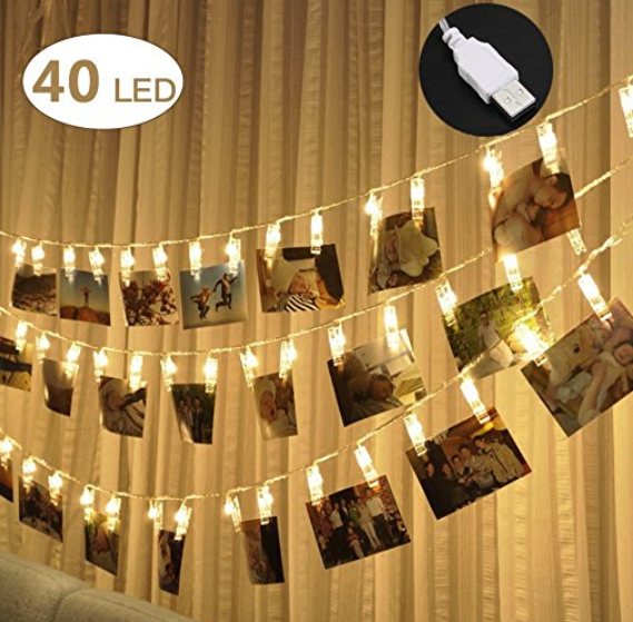LED String Photo Clip Lights | Sisterhood of the Sensible Moms Teen Girl Gift Guide
